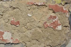 trama del vecchio intonaco sul muro foto