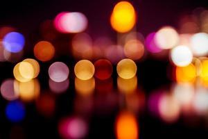 colore della luce bokeh foto