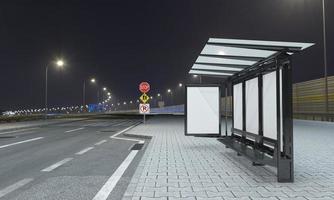 fermata dell'autobus pensilina mockup 3d illustrazione foto