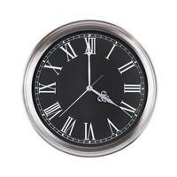 quattro ore sull'orologio rotondo foto