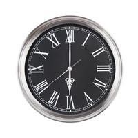 le sei dell'orologio rotondo foto