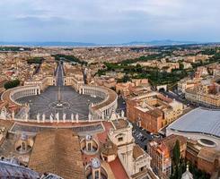 veduta aerea sui musei vaticani, st. piazza di san pietro foto