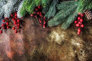 concetto di biglietto di auguri di Natale foto