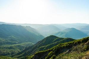 paesaggio montano georgiano foto