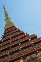 tempio in thailandia phra mahathat kaen nakhon, provincia di khon kaen, thailandia foto