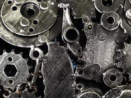 rottami di acciaio trame e modelli disegni creativi foto