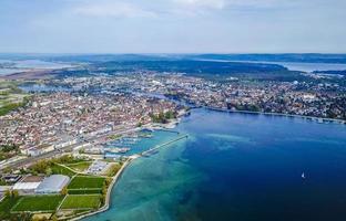 panorama aereo del lago di costanza o del bodensee in germania foto