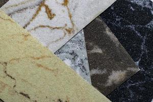 set di diverse pietre decorative per il design, interni ed esterni foto
