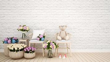 fiore della decorazione della stanza dei bambini o del soggiorno foto