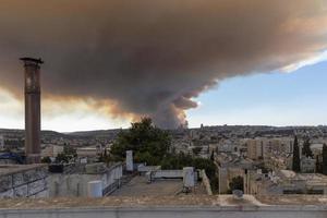 Gerusalemme, Israele 15, 2021porre fine a un incendio boschivo Gerusalemme. foto
