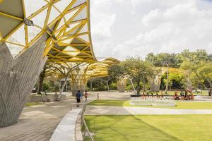 laman perdana, bellissimo padiglione di architettura nei giardini botanici del lago di perdana, malesia foto
