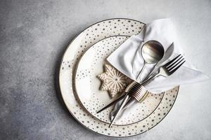 tavola per la cena di natale foto