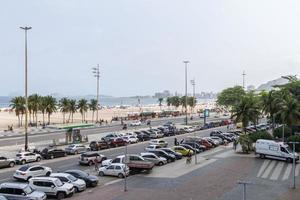 rio de janeiro, brasile, 2015 -spiaggia di leme a copacabana foto