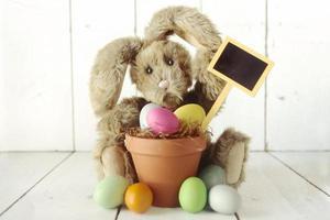 immagine occasione delle vacanze a tema coniglietto pasquale foto