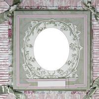 modello di cornice dell'album del tema del patrimonio foto