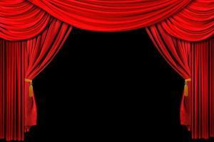 sfondo del palco drappeggiato rosso foto