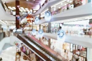 sfocatura astratta centro commerciale di lusso e negozio al dettaglio foto