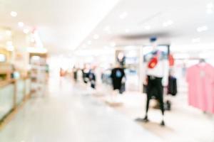 negozio di sfocatura astratta e negozio al dettaglio nel centro commerciale foto