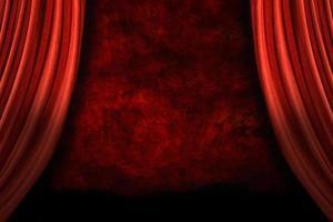 tende da palcoscenico con sfondo grunge foto
