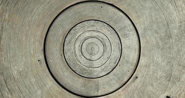 il vecchio fondo rotondo di struttura del reticolo di assicella di legno. foto
