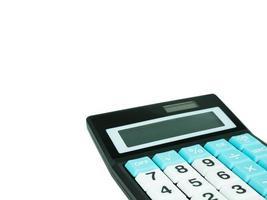 calcolatrice isolato su sfondo bianco foto