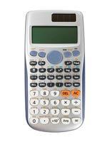calcolatrice scientifica isolata su sfondo bianco con tracciato di ritaglio foto