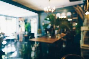 sfocatura astratta caffetteria bar e ristorante per lo sfondo foto