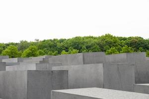 Monumento in memoria dell'Olocausto Ebraico nella città di Berlino foto