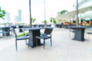 sfocatura astratta ristorante all'aperto per lo sfondo foto