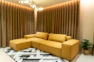 sfocatura astratta soggiorno moderno e di lusso foto