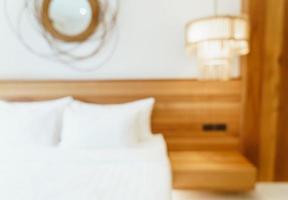 sfocatura astratta e interni sfocati della camera da letto per lo sfondo foto