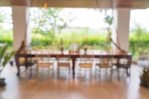 sfocatura caffetteria o ristorante bar foto