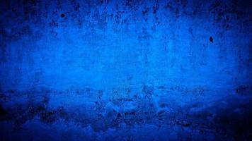 sfondo grunge di colore blu della parete foto