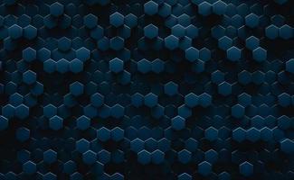 illustrazione 3D. sfondo astratto esagonale geometrico scuro. concetto futuristico e tecnologico. foto