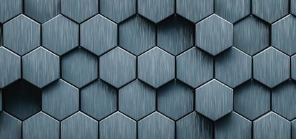 illustrazione 3D. sfondo astratto esagonale. concetto futuristico e tecnologico. foto