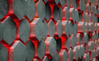 illustrazione 3D. sfondo astratto esagonale. foto