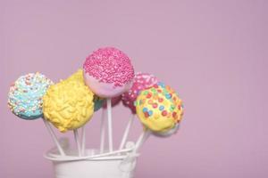 concetto di cake pop creativo foto
