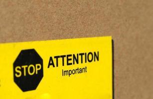 fermare l'attenzione segno importante foto
