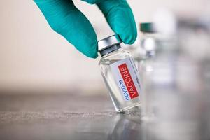 vaccino per la mano per il coronavirus preventivo. foto