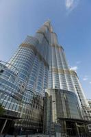 dubai, Emirati Arabi Uniti, 7 maggio 2015 - vista al burj khalifa a dubai. questo grattacielo è la struttura artificiale più alta mai costruita, a 828 m. foto