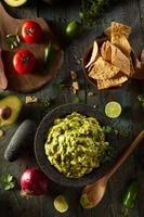 guacamole fresco fatto in casa e patatine