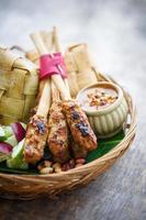pollo satay, bali, indonesia foto