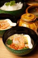 zuppa di noddle di cocco tailandese foto