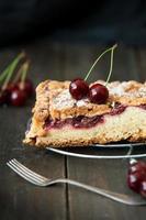 deliziosa e fresca torta di ciliegie