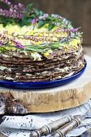 torta di fegato con aglio foto