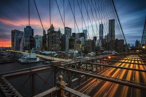 lo skyline di new york city foto
