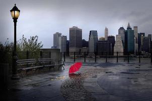 Brooklyn Heights lungomare al crepuscolo foto