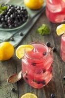 limonata ai mirtilli dolce biologica foto