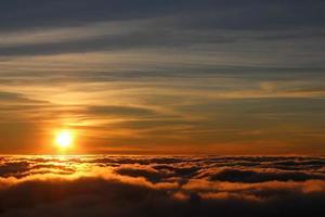 tramonto dorato foto