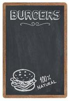 menu di hamburger